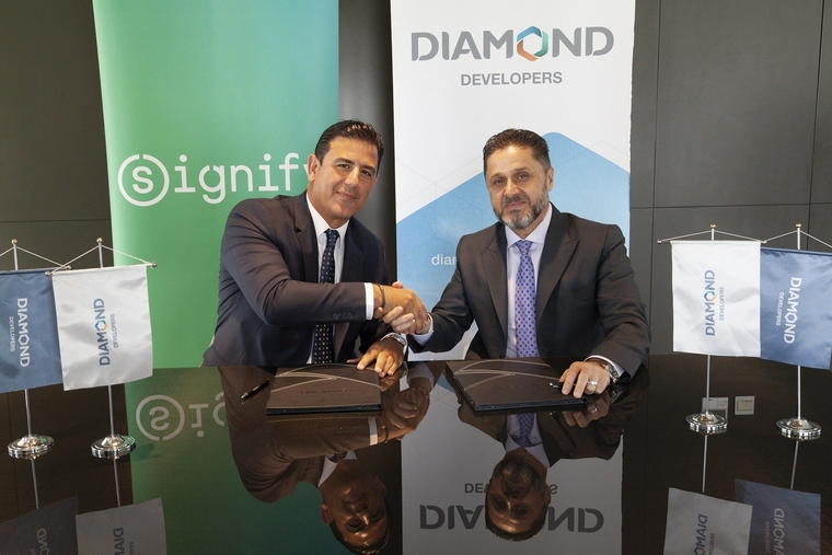Signify and Diamond Developers sign an MoU for collaboration on sustainable lighting
