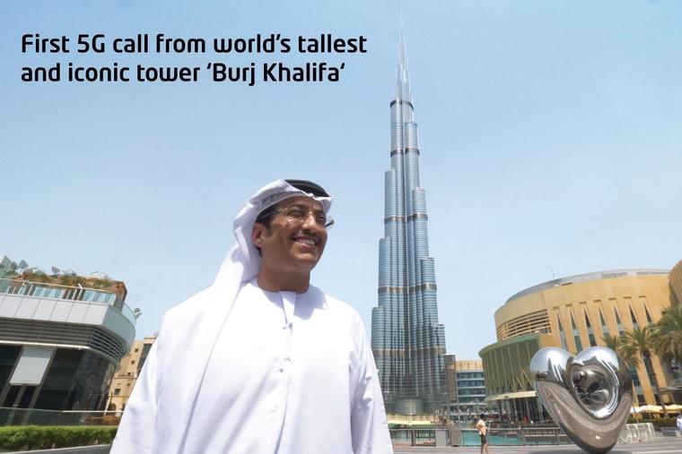 Etisalat dials in 5G call from Burj Khalifa