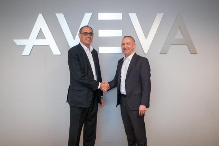 Worley CEO, Andrew Wood and AVEVA CEO, Craig Hayman
