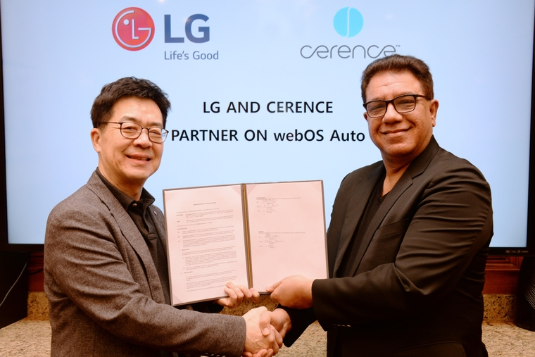 LG and Cerence to develop webOS solutions for the automotive market