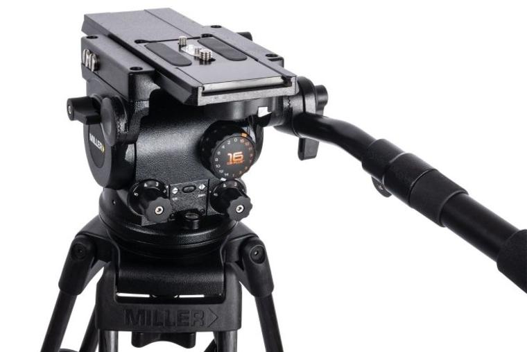 Miller unveils light tripod head ArrowX 1