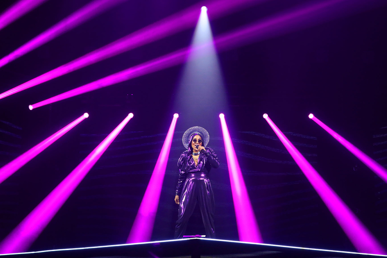 In pictures: Robe helps The Voice Ukraine proceed despite Covid-19