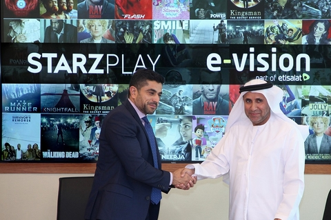 Etisalat's E-Vision signs 5-year deal with STARZ PLAY