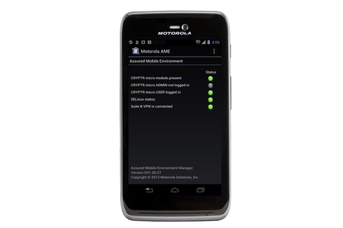 Motorola bundles secure comms with Android handset
