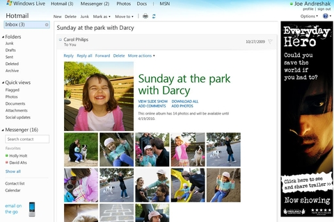 Microsoft previews spruced up Hotmail