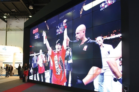 Sharp builds big video wall