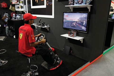 Race with Thrustmaster's Ferrari cockpit