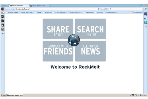 Rockmelt keeps you in the loop