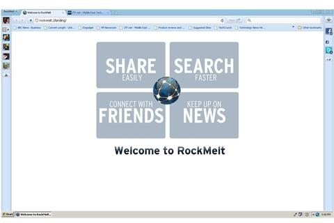 Rockmelt keeps you in the loop