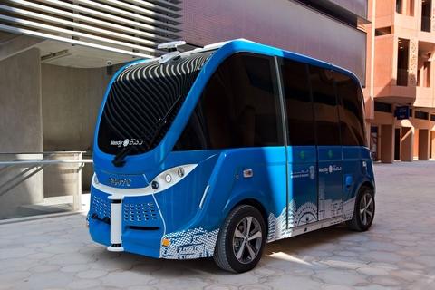 Masdar unveils new self-driving shuttle