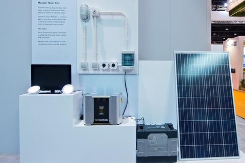 Masdar announces plug and play home solar power kits
