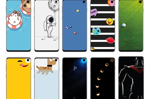 Special Disney and Pixar Wallpapers released for Samsung Galaxy S10's Infinity-O Display