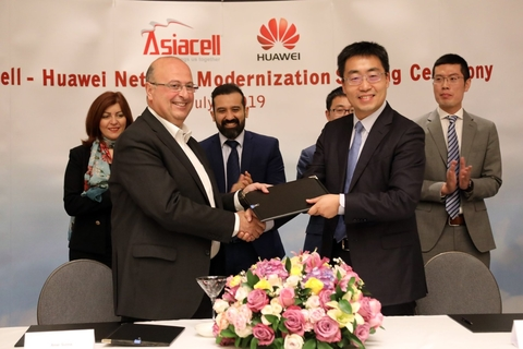 Asiacell and Huawei initiate network modernization partnership