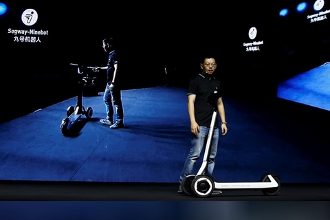 Chinese company, Ninebot unveils scooters that drive themselves to charging stations