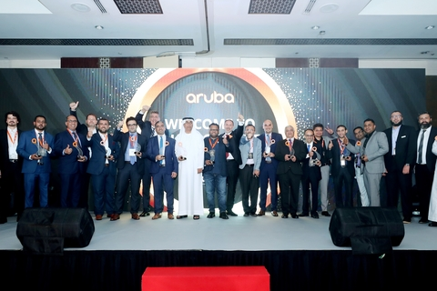 Aruba honours partners across META at Channel Awards