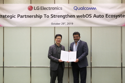 LG and Qualcomm will work together to further develop WebOS Auto