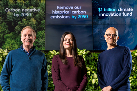 Microsoft committing to become carbon negative by 2030