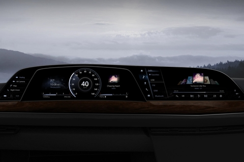 LG's P-OLED display technology debuted in a car