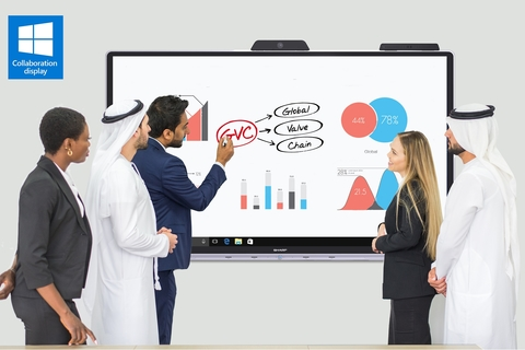 Sharp launches 'Windows collaboration display', world's first Microsoft certified Interactive Display with IoT Hub system